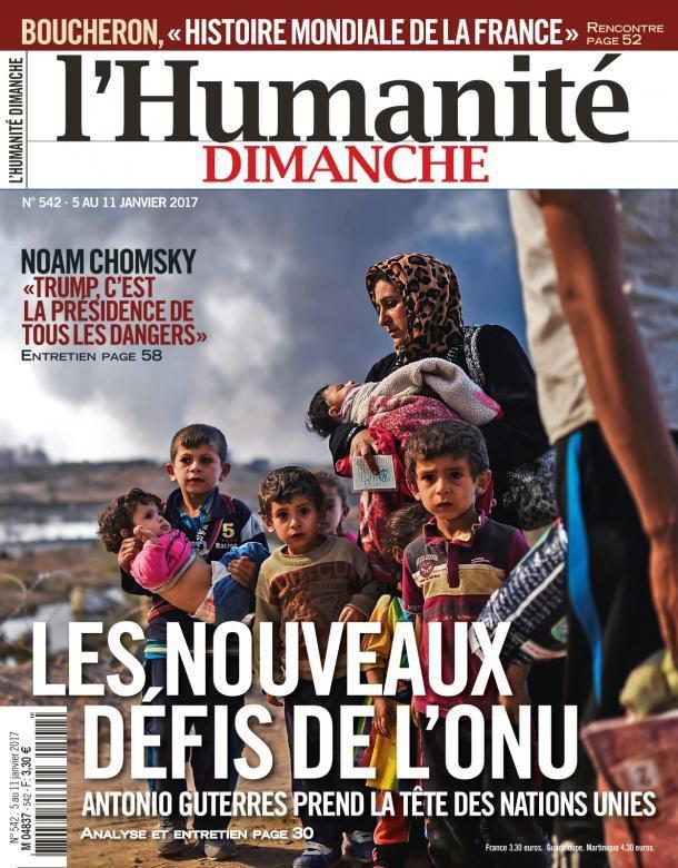 A la une de l'Humanité Dimanche (05-01-17)