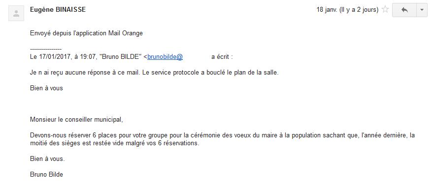 12 jours avant la cérémonie des voeux du maire à Hénin-Beaumont, il n'y a plus de place pour les élus de l'opposition !