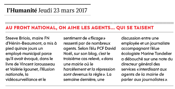 Au Front national, on aime les agents... qui se taisent
