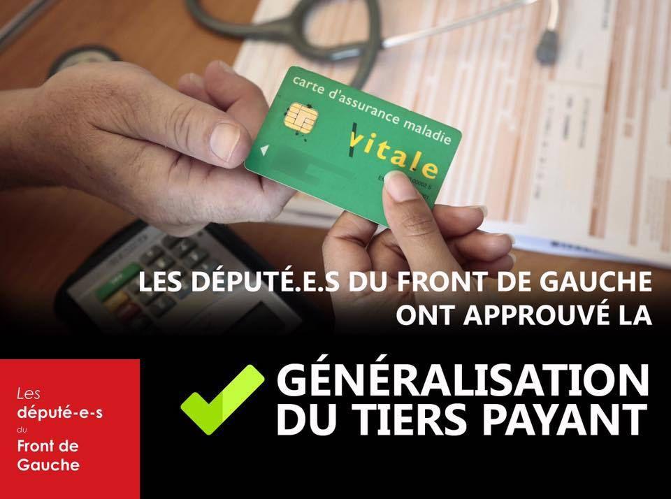 Les député-e-s du Front de Gauche ont approuvé la généralisation du tiers payant