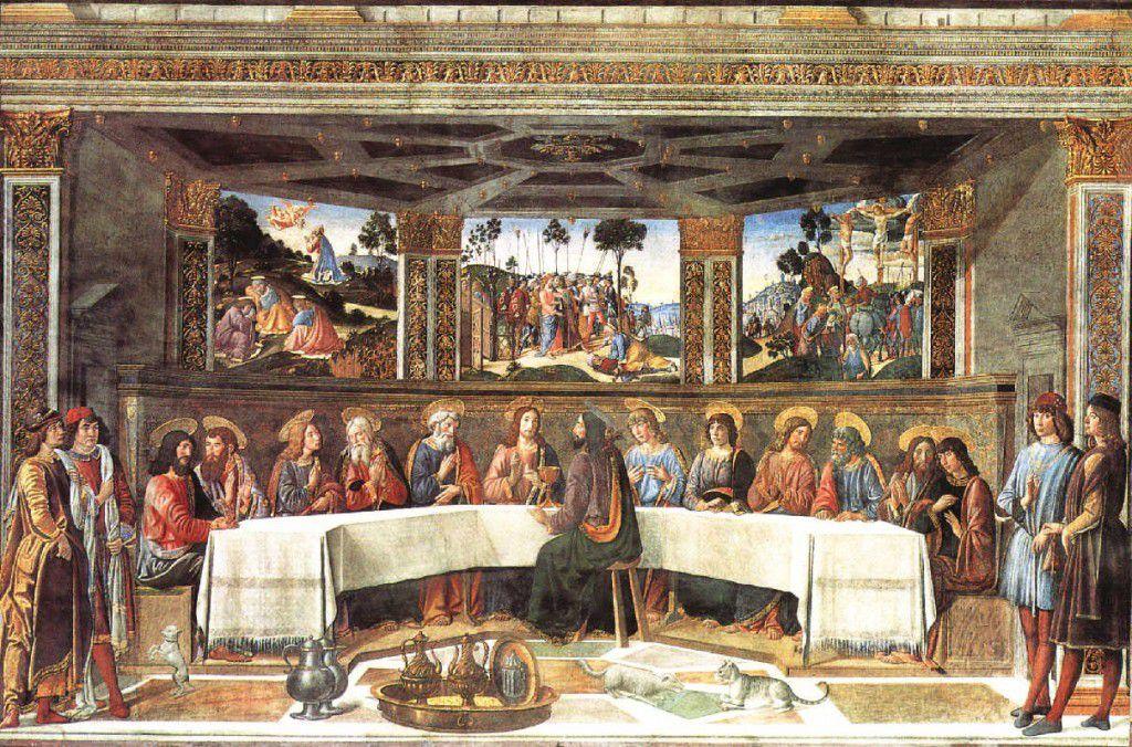 Cosimo Rosselli, l'Ultima Cena. Rome. Chapelle Sixtine