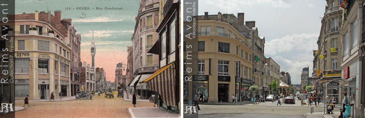 Rue Condorcet, entre la rue de Talleyrand et la Place d'Erlon