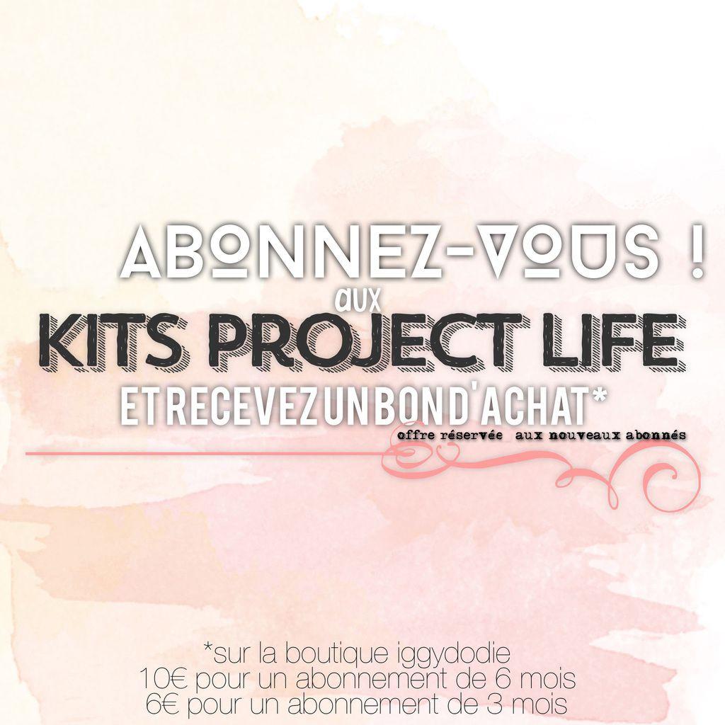 Offre - Kit Project Life de Juillet