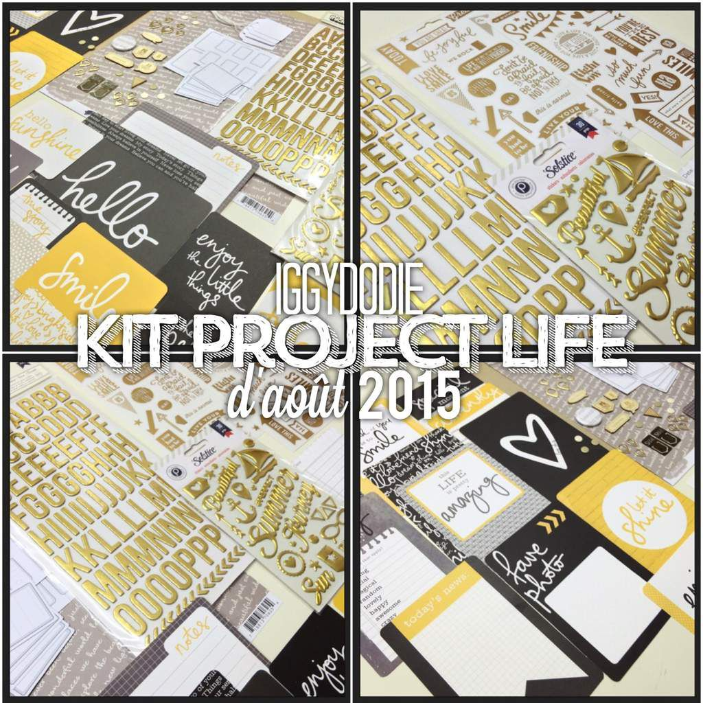 Kit Project Life d'Août