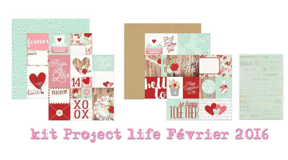 Le kit Project Life de Février