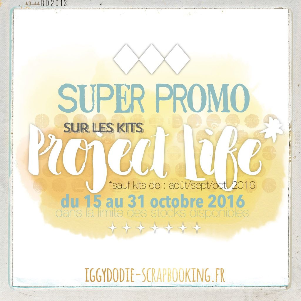 Super Promo sur les kits Project Life