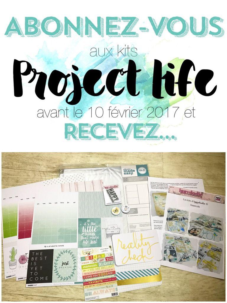 Kit Project Life de février et kit de démarrage