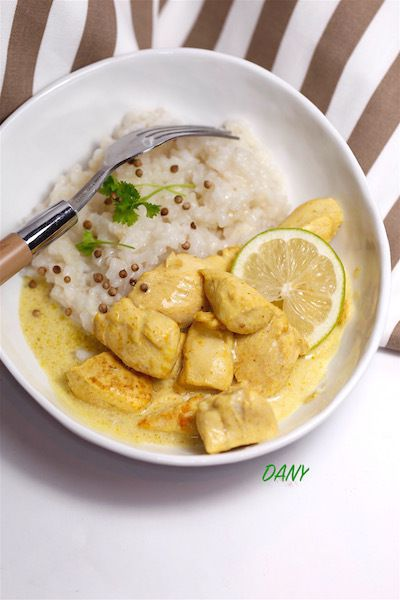 FILETS DE POULET AU CURRY ET CITRON VERT