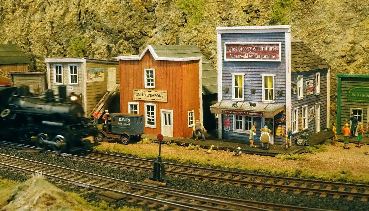 Scène de vie à Killian Fall's (diorama de Christian Vladich).