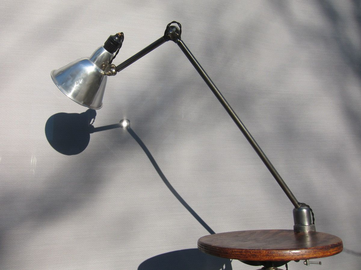 VINTAGE FRENCH MAZDA WORKSHOP CLAMP LAMP
