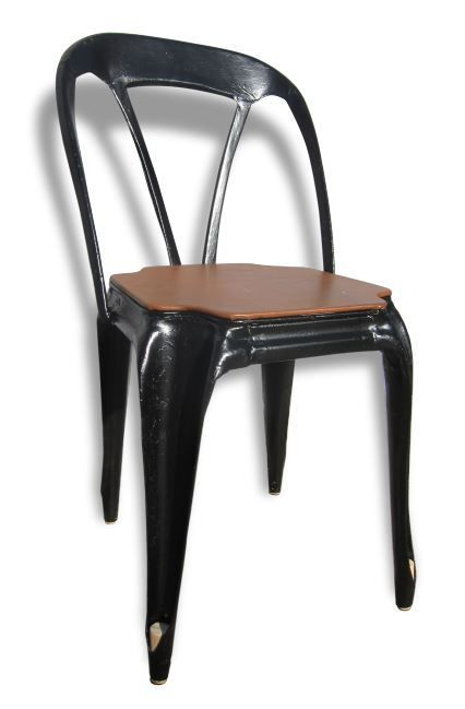 Sieges metal hamdesign by home art et mati re for Chaise tole