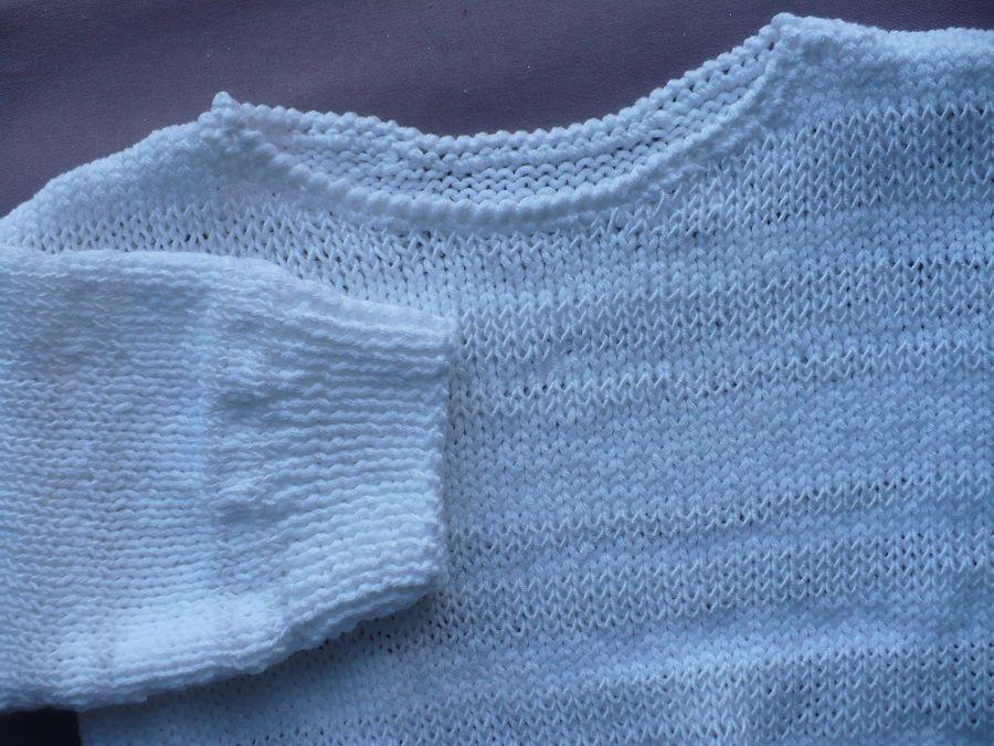 Pull Blanc Lilas