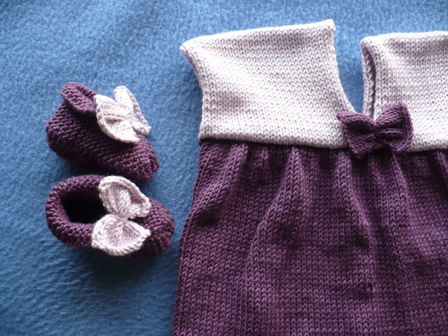 Robe et chaussons petite fille