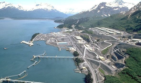 Valdez, terminal portuaire du TAPS, Joint Pipe-Line Office, wikipedia