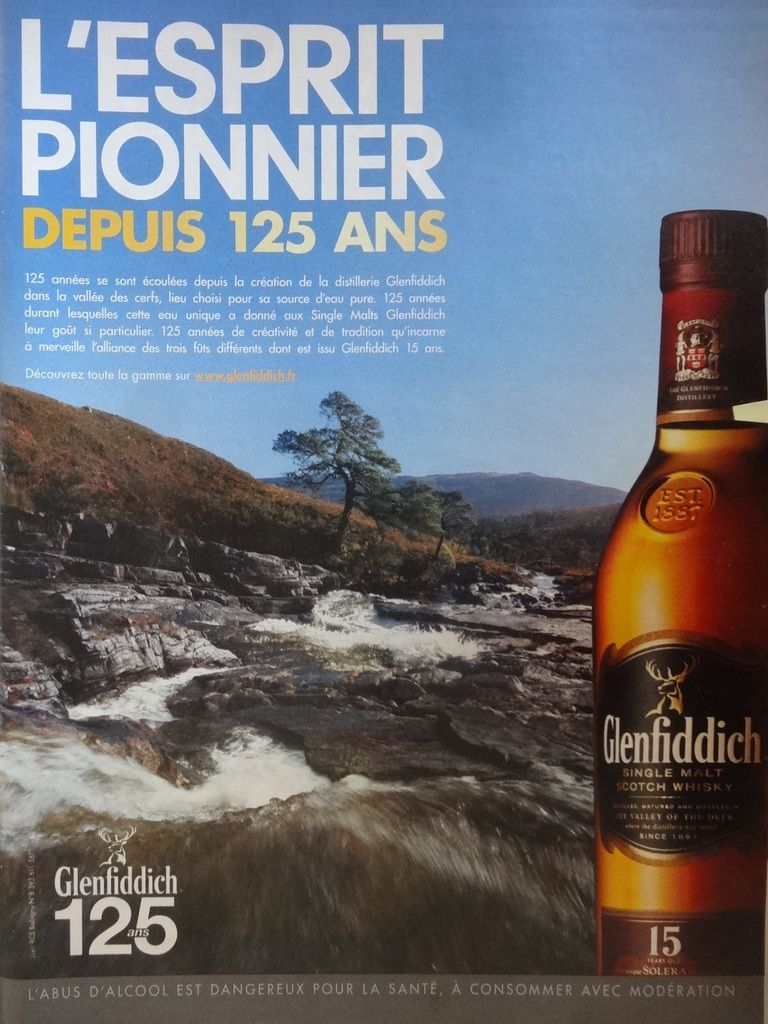Glenfiddich, Single Malt Scotch Whisky, 15 ans d'âge, Cl. Elisabeth Poulain