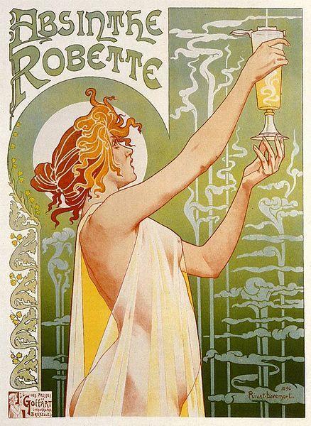 Henri Privat-Livemont, La belle jeune famme de l'Absinthe Robette
