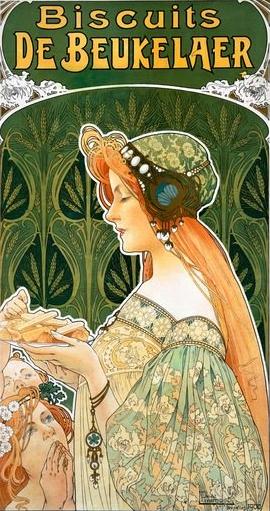 Henri Privat-Livemont, la belle Dame des Biscuits Beukelaer, wikipedia