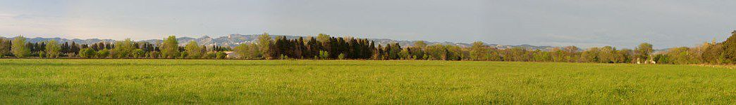 Plaine de Crau, panoramique de Styeb, wikipedia-Flickr