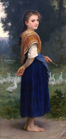 The Goose-Girl-wikipedia-William-Adolphe-Bouquereau-1825-1905