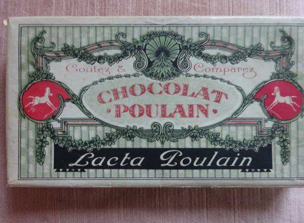 Chocolat Poulain-Lacta-Poulain-24-tablettes-Boîte-carton-début XXe siècle,Cl. Elisabeth Poulain