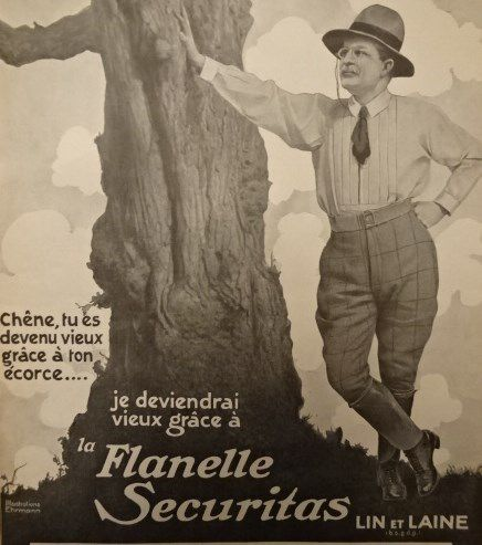 * Flanelle Securitas, L'Illustration 16.7.1910, Annonce p1, Cl1. Elisabeth Poulain