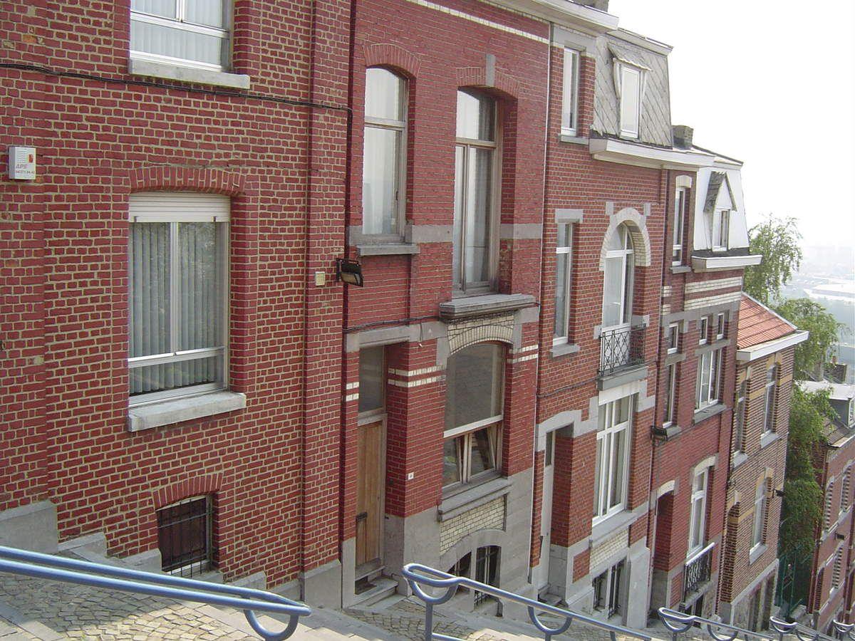 Liège, le Grand Escalier, côté gauche en partant du haut de la colline, Cl. Elisabeth Poulain
