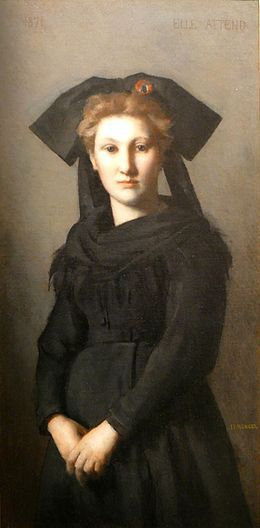 Elle attend-1871-Jean-Jacques Henner-Cl. Ji-Elle-Museum Fine Arts, Mulhouse,wikipedia