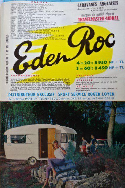 Caravane, janv..1962 n°141, 3 de couv., Eden Roc, caravane  anglaise, Cl. Elisabeth Poulain