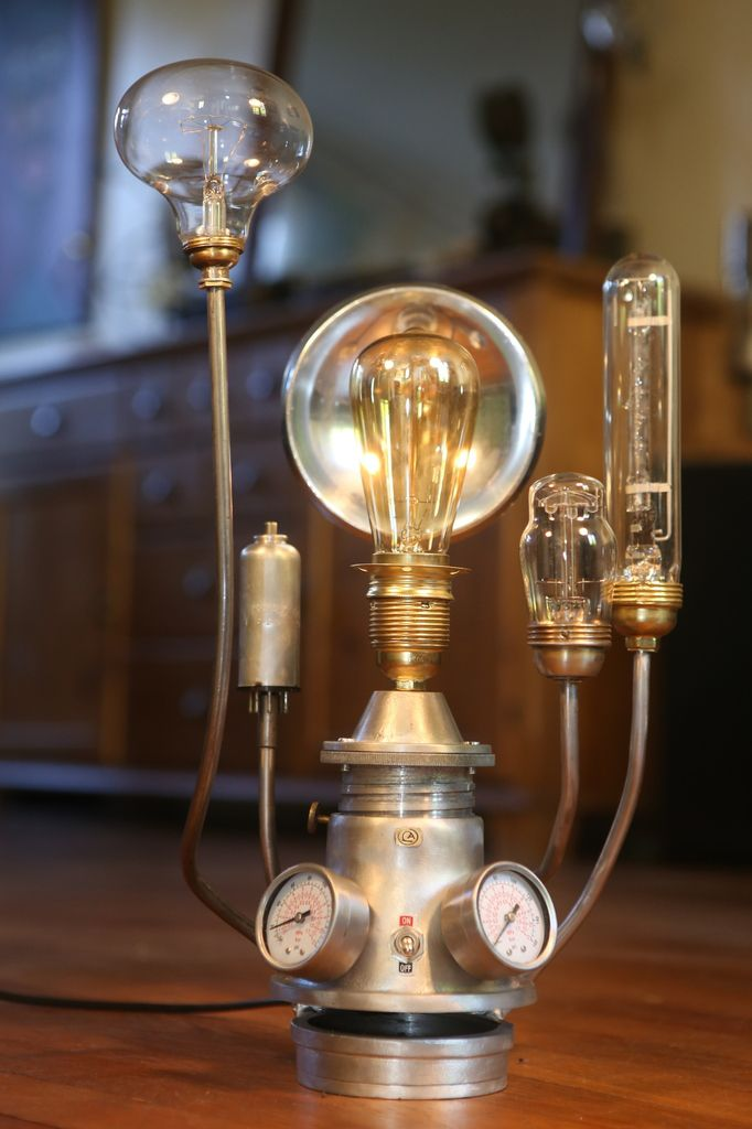steampunk lampe cracation unique actrange raccup esprit lampen shop