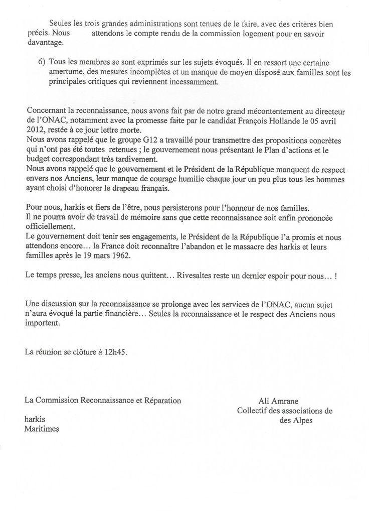 Compte rendu groupe de travail &quot&#x3B;réparation et reconnaissance&quot&#x3B; 09-06-2015 à Marseille