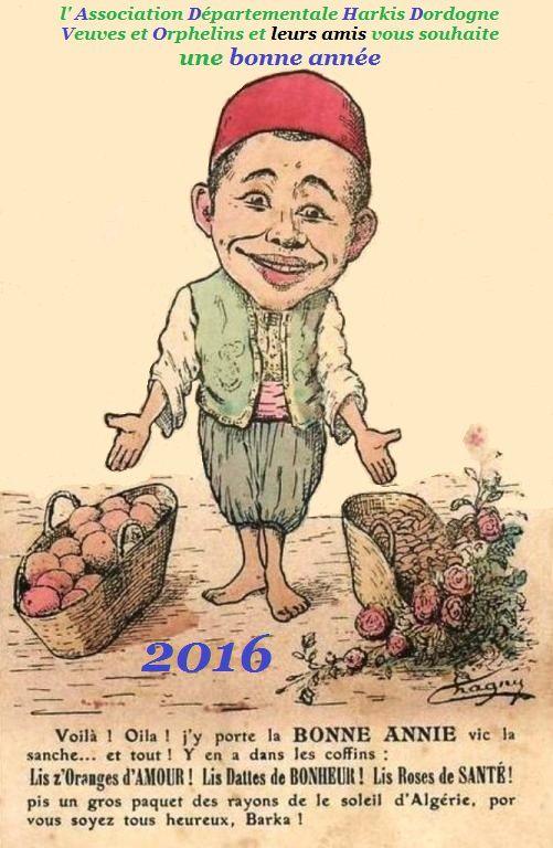 Joyeuses fêtes de fin d'année de la part de l'Association Départementale Harkis Dordogne Veuves et Orphelins et leurs amis