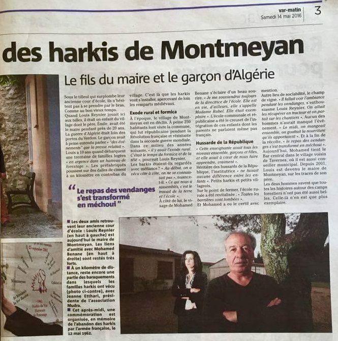 Commémoration de l'abandon des Harkis au Hameau Forestier (83) MONTMEYAN