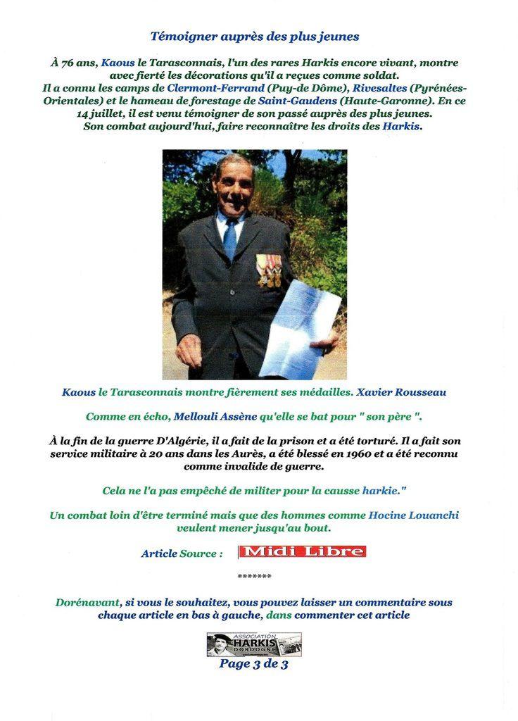 Harkis de Saint-Maurice-L'ardoise (30) &quot&#x3B;On a tous une partie de nous-même traumatisée&quot&#x3B;