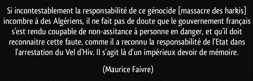 Réflexion d'un adhérent Harkis Dordogne sur la cause Harkie en général.