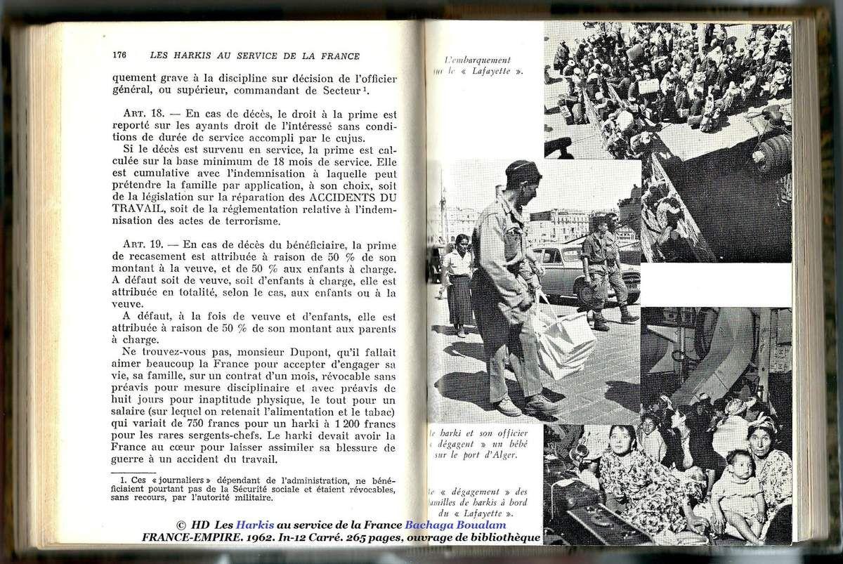Les Harkis au service de la France du Bachaga Boualam ( Contrats de travail Harkis Art. de 1 à 19 )
