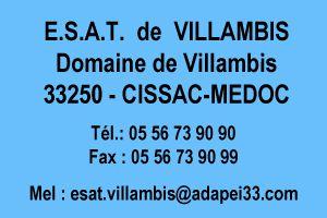 Coordonnées ESAT de Villambis