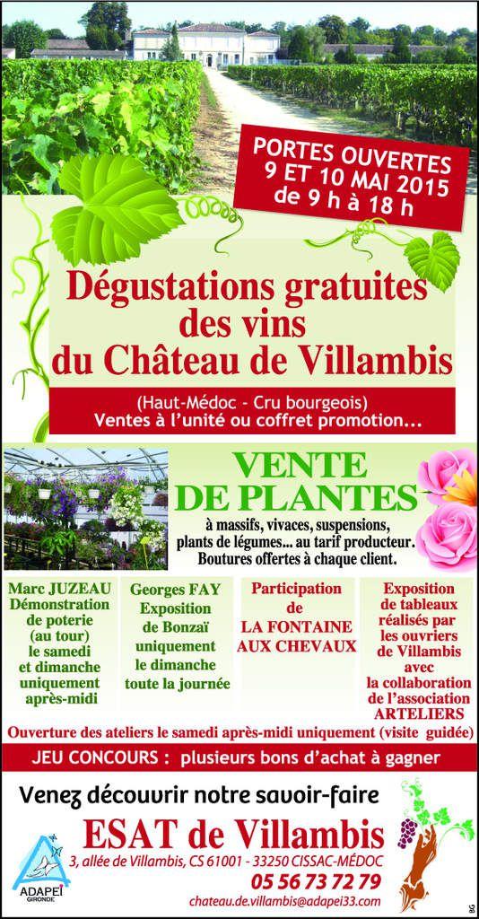 Portes Ouvertes à Villambis - 9 et 10 mai 2015
