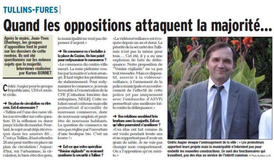Article du Dauphiné Libéré du 18 octobre 2016