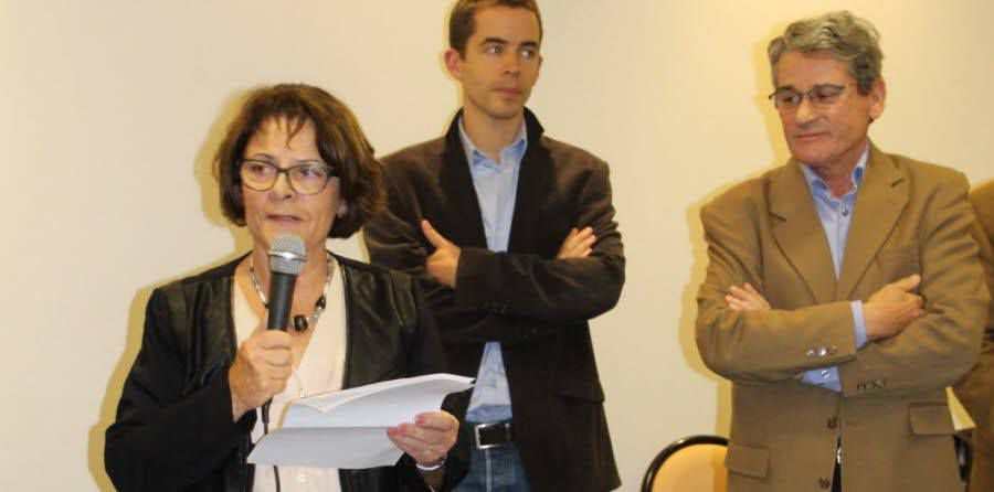 Photo du DL ( Nicole Renevier, Paul Guillot et Jean Yves Dherbeys)