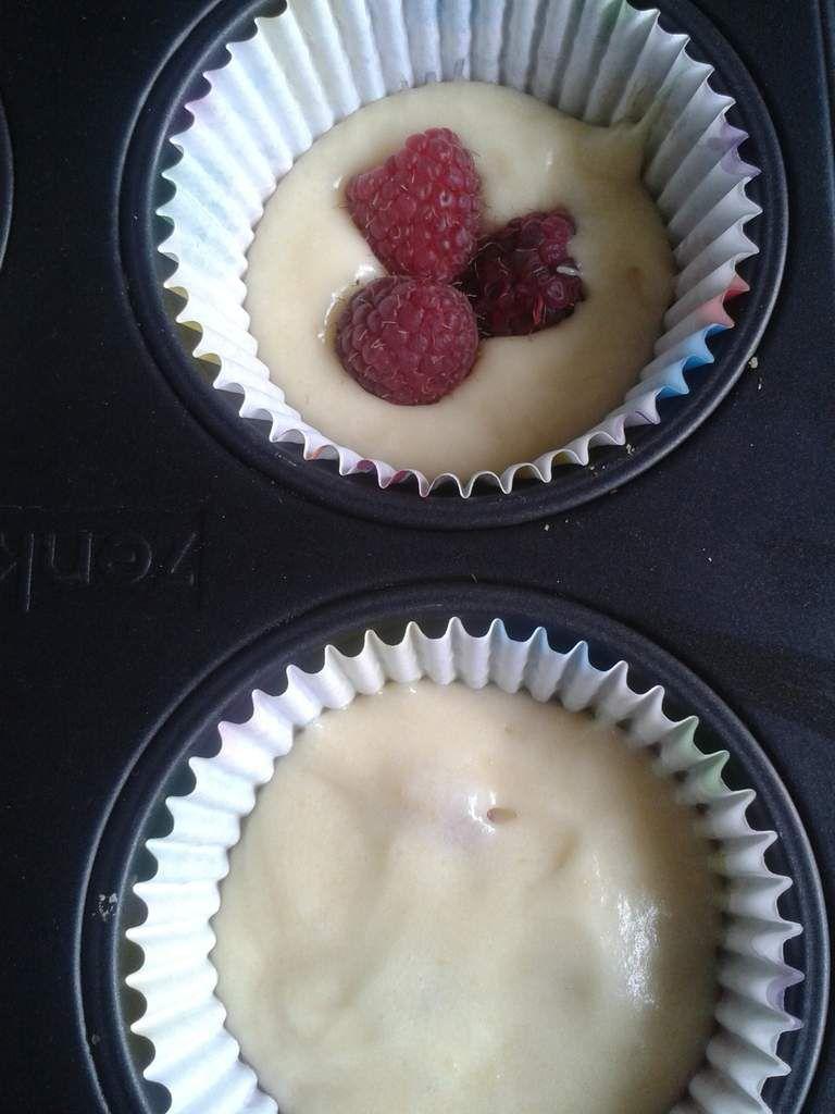 Goûter maison : muffins à la framboises