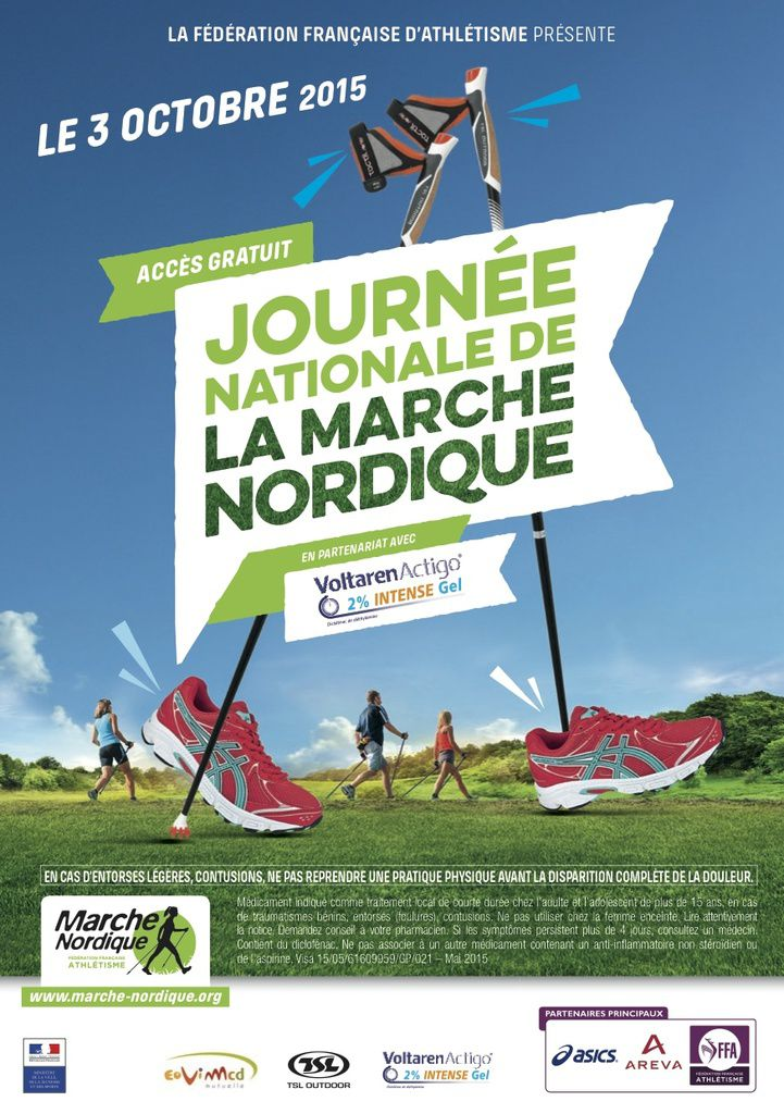 JOURNÉE NATIONALE DE LA MARCHE NORDIQUE A CRUSSOL EN FORME