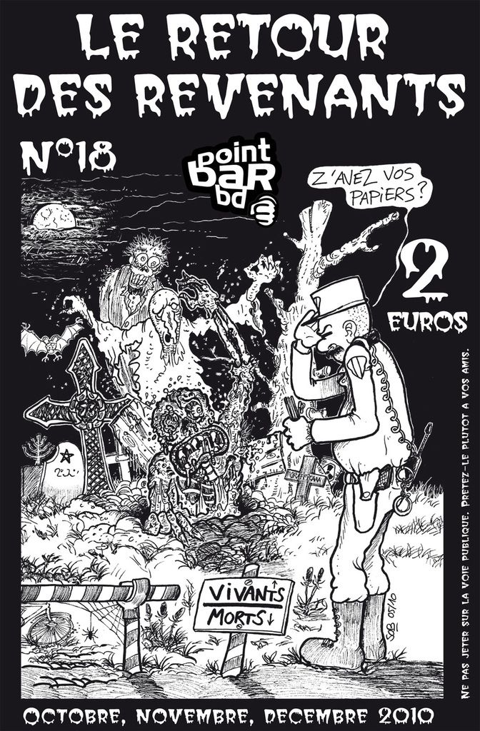 Couverture du n°18 de Point Bar BD, le retour des revenants