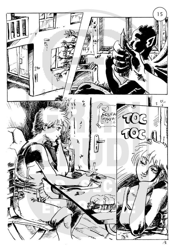 La Gargouille, réalisée par Tolden, publiée dans le fanzine Grna Gaudi #01