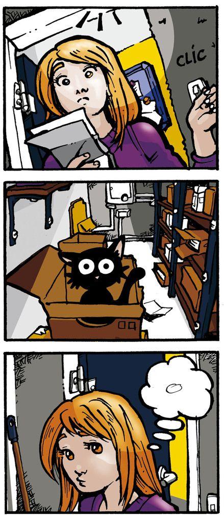 Le chat dans les archives par tolden