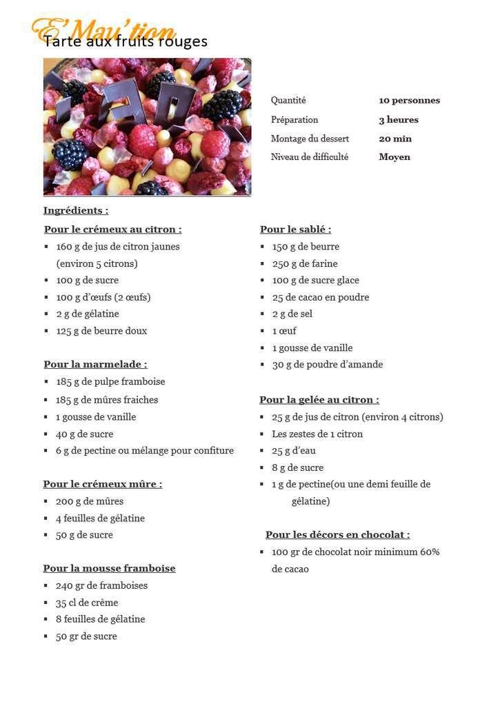 Recette de la tarte aux fruits rouges