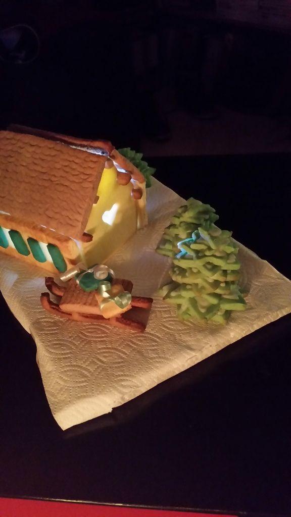 Maison illuminée pour Noël