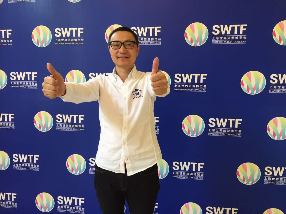 Shanghai World Travel Fair #SWTF Shanghai at the end of the day  蒙马特之莺——维罗妮卡·安德内里(Veronica Antonelli)and Yudong Dai #Eurotourvipservice