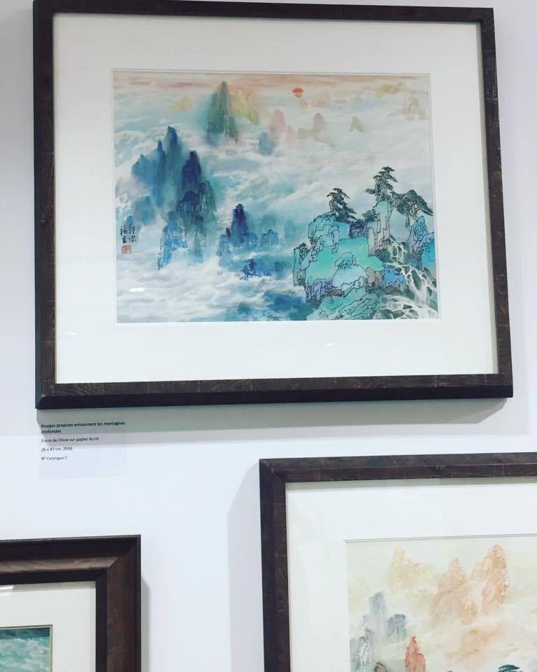 Inauguration de l'exposition de Mr Defu Guo#DefuGuoaux#Galeriesdudiamant