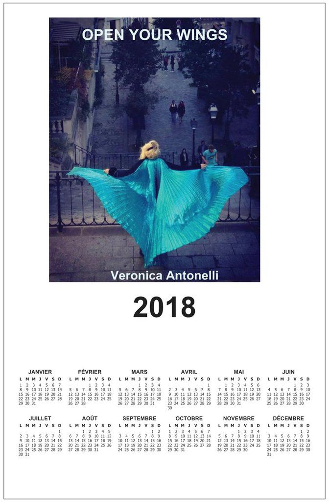 "Calendrier 2018 ""Open your wings""en vente 9,90€"