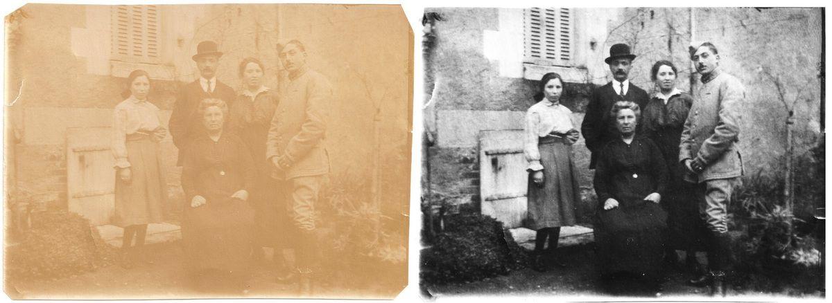 Mon AGP André AUDENET avec sa soeur, sa cousine et ses parents / Archives personnelles - cliquez pour agrandir